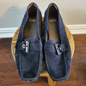 SW Navy Suede Driving Shoes